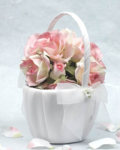 Porcelain Stephanoitis Bouquet Wedding Flowergirl Basket