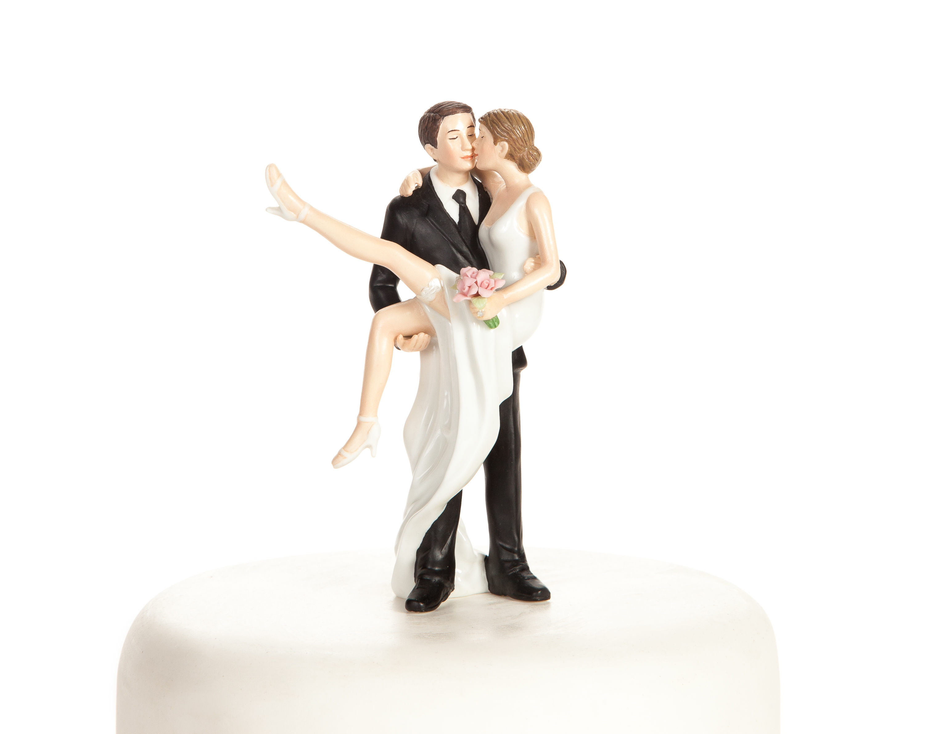 """Over the Threshold"" Wedding Bride and Groom Cake Topper"