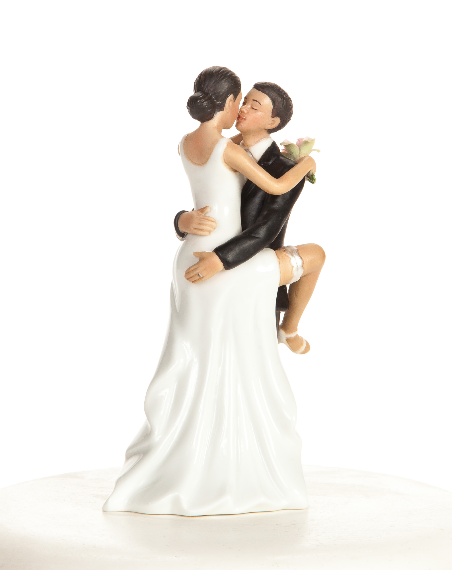 Funny Sexy African American Wedding Bride And Groom Cake Topper