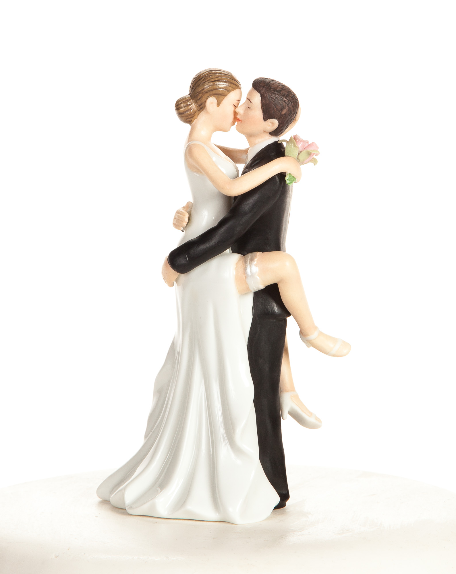Funny y Wedding Bride and Groom Cake Topper Figurine