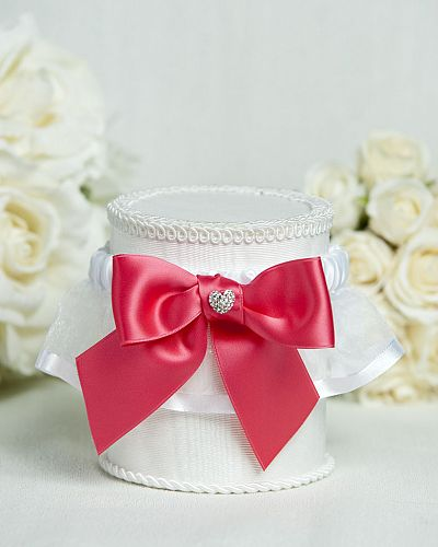 Crystal Heart Ribbon Garter