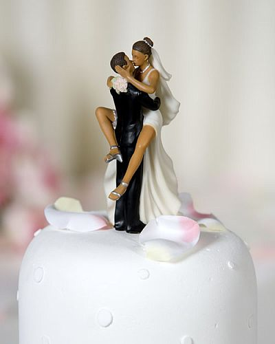 Comical Wedding Cake Toppers On Funny Sexy African American Bride And Groom Topper