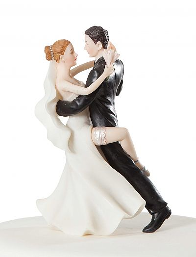 Super Sexy Dancing Wedding Bride and Groom Cake Topper Figurine
