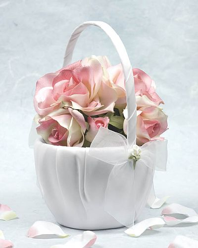 Porcelain Calla Lily Bouquet Wedding Flowergirl Basket