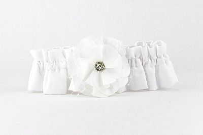 Netted Rose Wedding Garter
