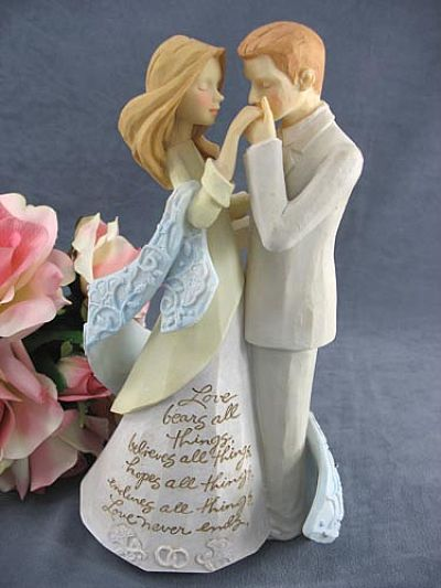 Foundations R Bride And Groom Wedding Cake Topper Figurine
