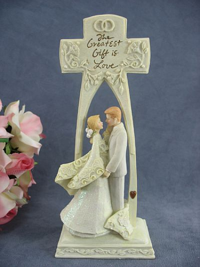 Foundations Quot The Greatest Gift Is Love Quot Cross Wedding Cake