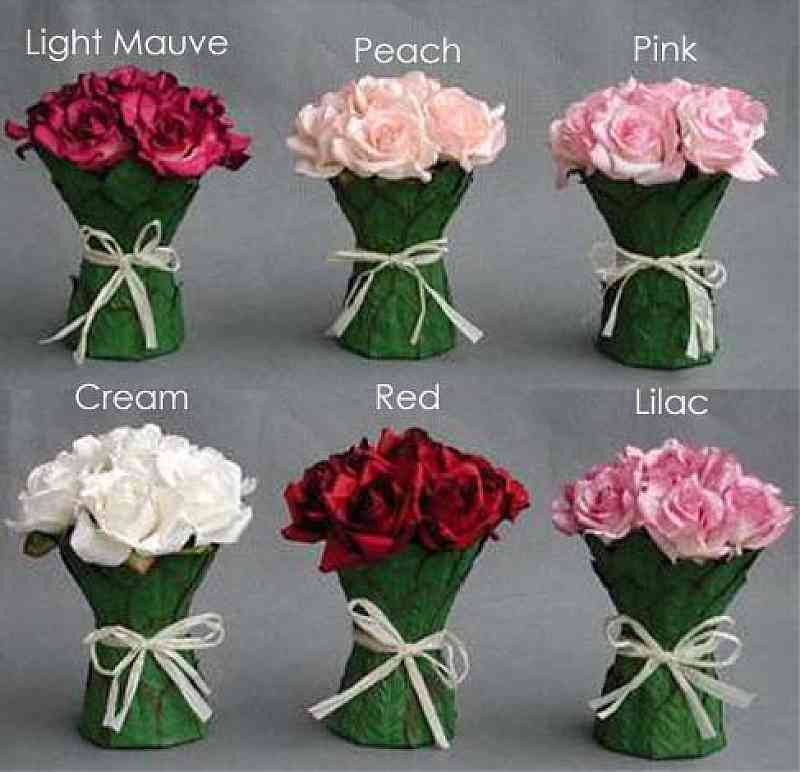 Rose Bouquet Wedding Centerpiece Available In Peach Pink Cream Red Lilac