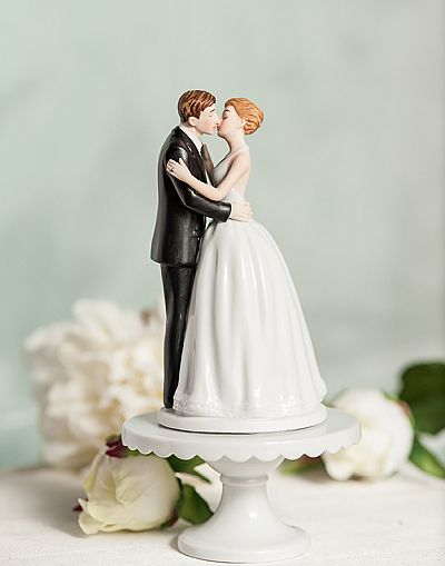 Romance Kissing Couple Cake Topper