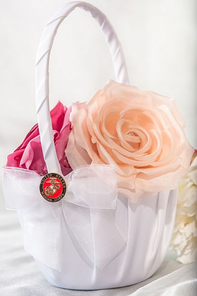 Military Wedding Flowergirl Basket