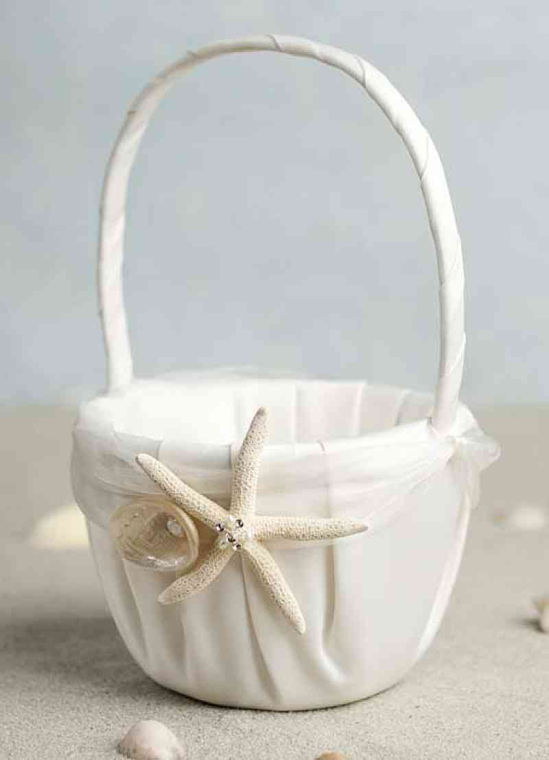 Starfish Shell Beach Wedding Flowergirl Basket