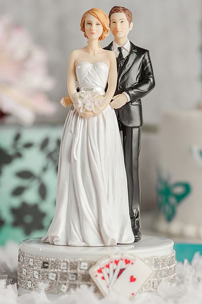 Taking a Gamble Mix and Match Wedding Cake Topper