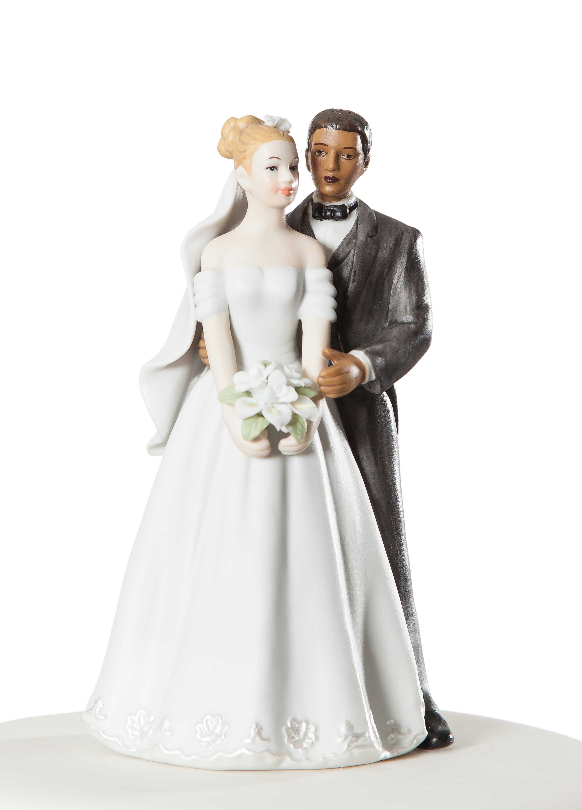 Elegant Interracial Wedding Couple