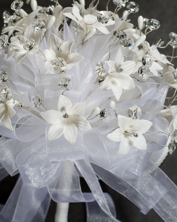 stephanotis crystal quinceanera bouquet
