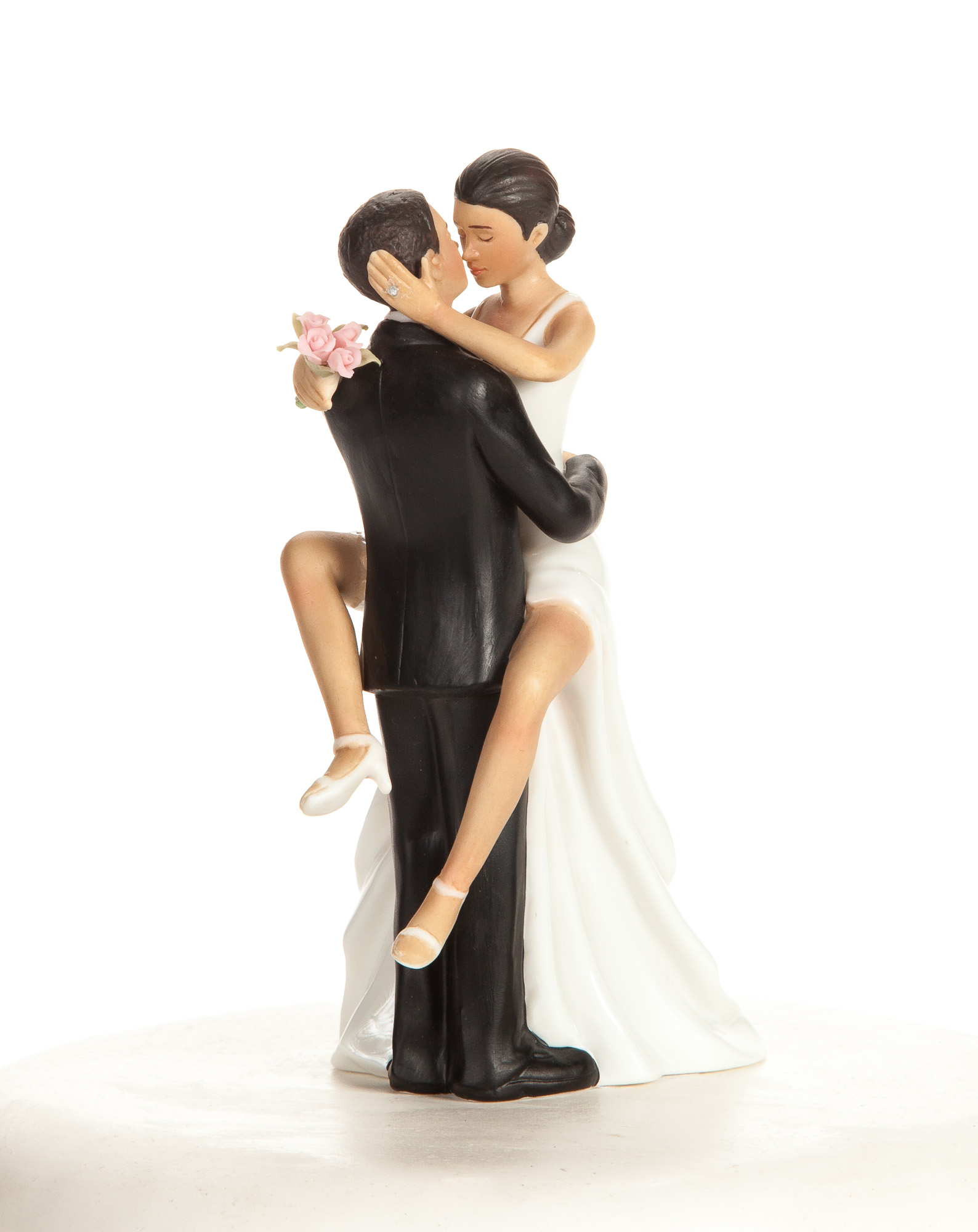 """Funny y"" African American Wedding Bride and Groom Cake"