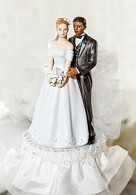 Interracial Tulle Cake Topper