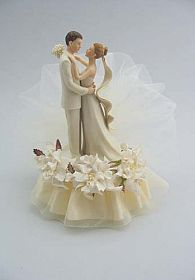 Off White Gardenia Cake Topper