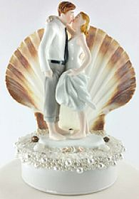 """Beach Get Away"" Shell Wedding Cake Topper"
