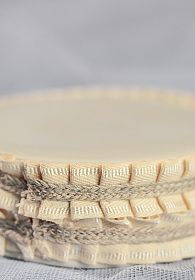 Pleated Linen and Rope Trim Porcelain Base