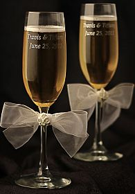 Porcelain Calla Lily Bouquet Wedding Toasting Glasses