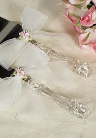 Porcelain Rose Bouquet Wedding Cake Server Set