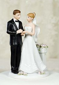 Rose Garden Wedding Couple Figurine