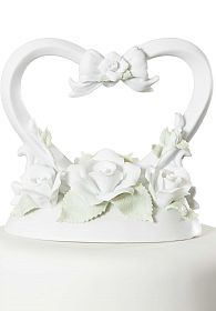 Rose Heart Cake Topper