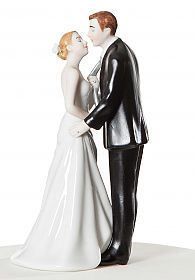 """Tie(ing) the Knot"" Wedding Cake Topper Figurine"