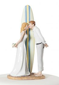 """Summer Lovin"" Wedding Cake Topper Figurine"