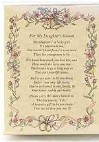 From the Bride's Parent to the Groom Poetry Wedding Handkerchief