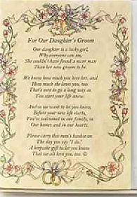 From the Bride's Parents to the Groom Poetry Wedding Handkerchief