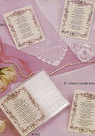 A Wedding Wish - Poetry Hankie - BH115