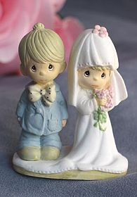 """Precious Moments ® """"The Lord Bless You and Keep You"""" Small Wedding Cake Topper Figurine"""