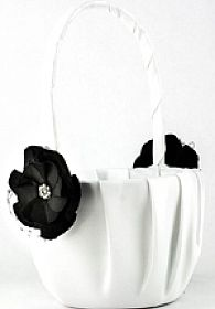 Black Rose Wedding Flowergirl Basket