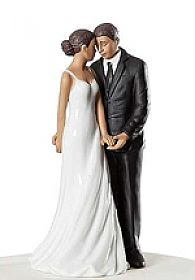 """Wedding Bliss"" African American Wedding Cake Topper"