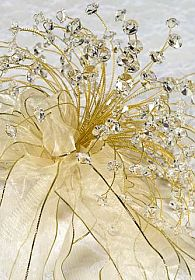 Gold Crystal Wedding & Quinceanera Bouquet