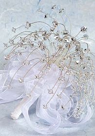 Silver Crystal Wedding & Quinceanera Bouquet