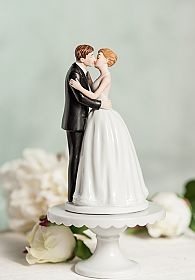 """Romance"" Kissing Couple  Cup Cake Wedding Cake Topper Figurine"