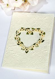 Daisy Heart Natural Paper Wedding Thank You Note Card