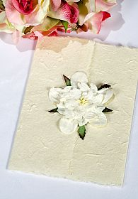 Gardenia Natural Paper Wedding Thank You Note Card