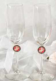 Military Wedding Toasting Glasses