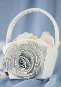 Swirl Rose Flower Girl Basket