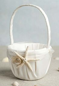 Starfish & Shell Beach Wedding Flowergirl Basket