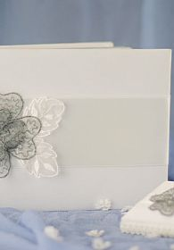 French Rhinestone Lace Guest Book