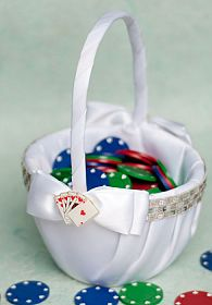 """Taking a Gamble"" Wedding Flower Girl Basket"