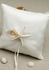 Starfish & Shell Beach Ring Pillow