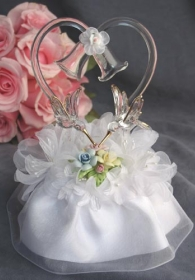 Pastel Rose Hummingbird Cake Topper