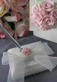 Rose Wedding Pen Holder
