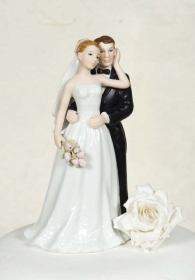 Elegant Rose Wedding Bride and Groom