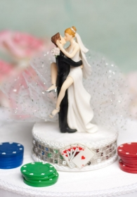 """Taking a Gamble"" Wedding Cake Topper"